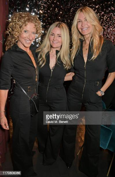 Kelly Hoppen Donna Ida and Melissa Odabash attend a private dinner celebrating the launch of Donna Ida's 'Cassandra' jumpsuit at Black Roe on...