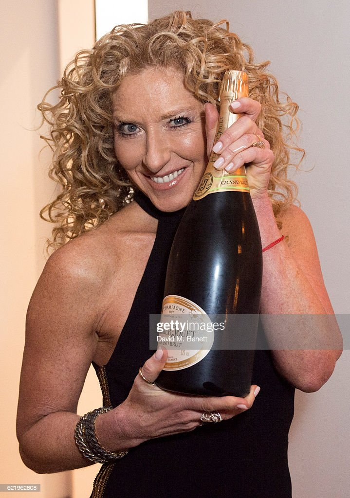 Kelly Hoppen enjoying Perrier-Jouet during her anniversary party celebrating 40 years as an Interior Designer, at Alva Studios on November 9, 2016 in London, England.