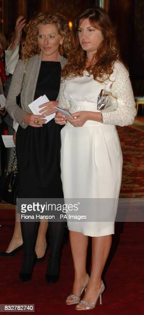 Kelly Hoppen interior designer and Karren Brady attending Women in Business Reception hosted by Queen Elizabeth II at Buckingham Palace today...