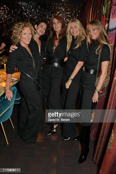 Kelly Hoppen Kirsty Gallacher Angela Radcliffe Melissa Odabash and Caroline SciammaMassenet attend a private dinner celebrating the launch of Donna...