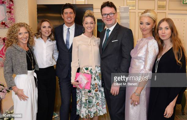 Kelly Hoppen, Melanie C, Vernon Kay, Storm Keating, Ewan Venters, Tamara Beckwith and Anouska Beckwith attend the 5th annual Lady Garden lunch in...