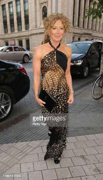 Kelly Hoppen seen attending Syco summer party at Victoria and Albert Museum on July 04 2019 in London England