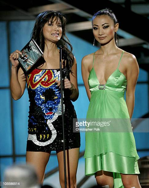 Kelly Hu and Bai Ling during Spike TV's 2nd Annual Video Game Awards 2004 Show Hosted by Snoop Dogg at Barker Hangar in Santa Monica California...