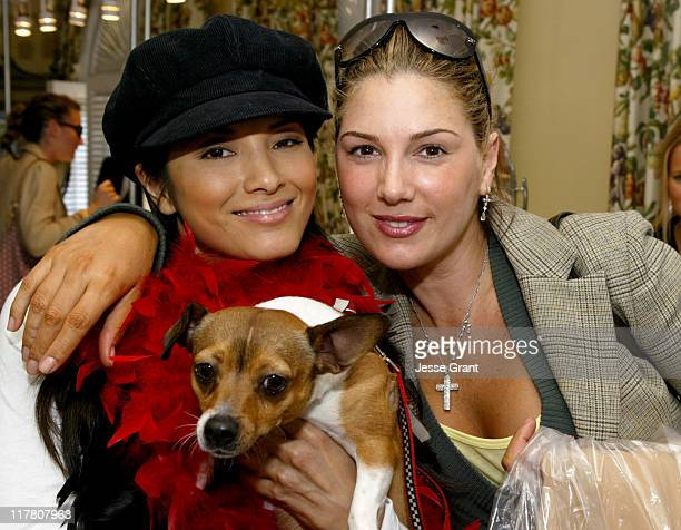 Kelly Hu and Daisy Fuentes with Mu Shu during NCDIA Oscar Suite Wrap Me in Diamonds Day 7 at Regent Beverly Wilshire Hotel in Beverly Hills...