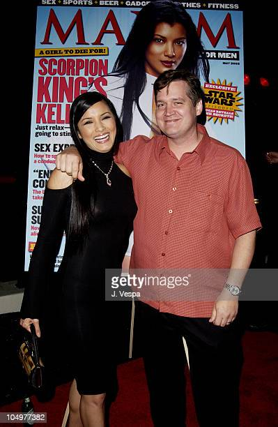 Kelly Hu and Keith Blanchard EditorinChief of Maxim