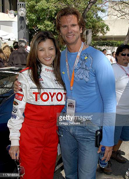 Kelly Hu and Lorenzo Lamas during 31st Anniversary Toyota Celebrity/Pro Race April 14 2007 at Streets of Long Beach in Long Beach California United...
