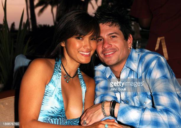 Kelly Hu and Mitch Allan during Kelly Slater Invitational Fiji Day 1 Sheraton Resorts Denarau Island at Sheraton Resorts Denarau Island in Denarau...