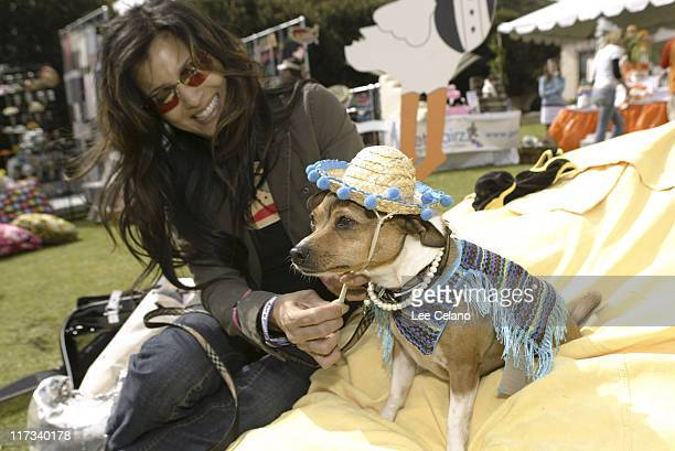 Kelly Hu and Moo Shoo at Barking Baby during Silver Spoon Hollywood Buffet for Dogs and Babies - Day 2 in Los Angeles, California, United States.
