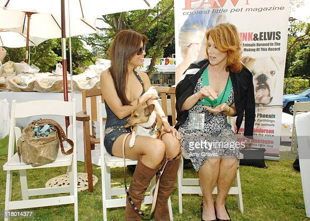 Kelly Hu and Mushu at Paw Print Magazine during The Silver Spoon Hosts 4th Annual Dog and Baby Buffet Day One at Wattles Mansion in Hollywood...