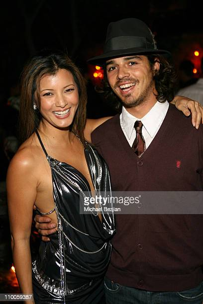 Kelly Hu and Ozzy Lusth during Kelly Hu's Birthday Party hosted by The Dolce Group Gavin Navarro and Jungle Tones at Les Duex in Hollywood California...