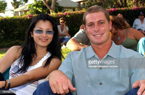 Kelly Hu and Tide Rivers during 2003 Maui Film Festival Father's Day Concert at Diamond Resort in Maui Hawaii United States