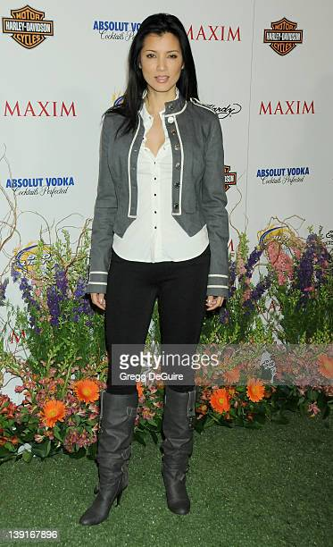 Kelly Hu arrives at the 11th Annual Maxim Hot 100 Party at Paramount Studios on May 19 2010 in Los Angeles California