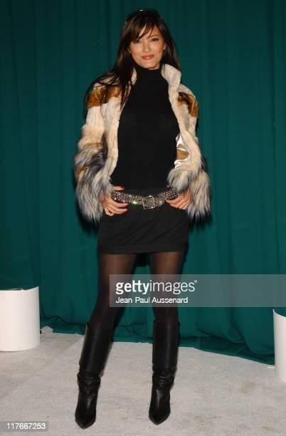 Kelly Hu at Napoleon Perdis Cosmetics during Silver Spoon PreGolden Globe Hollywood Buffet Day 1 at Private Residence in Los Angeles California...