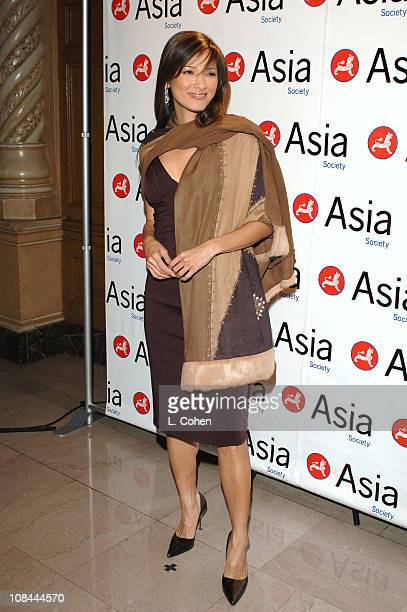 Kelly Hu during 2005 Asia Society Annual Gala Dinner at Millennium Biltmore Hotel in Los Angeles California United States