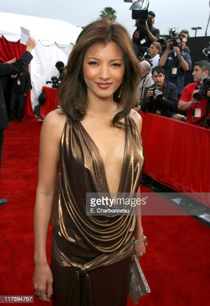 Kelly Hu during 2007 Taurus World Stunt Awards Red Carpet at Paramount Studios in Los Angeles California United States