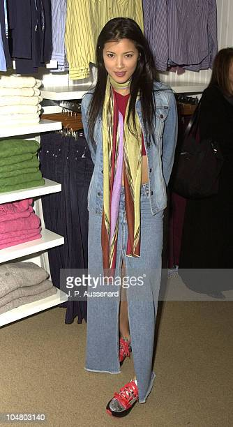 Kelly Hu during American Eagle Outfitters Customization Workshop at American Eagle Outfitters Showroom in Los Angeles California United States