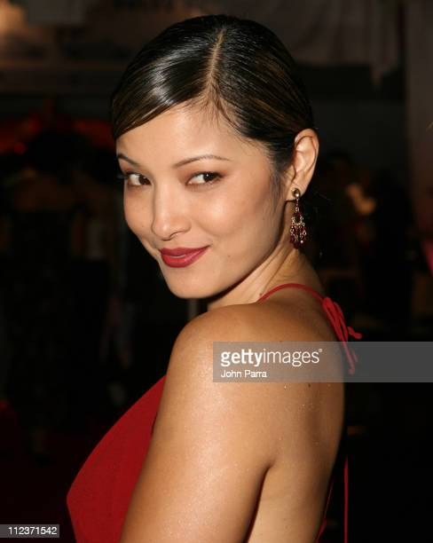 Kelly Hu during Best Buddies 9th Annual Miami Beach Gala 'Havana Nights' Arrivals at Star Island in Miami Beach Florida United States