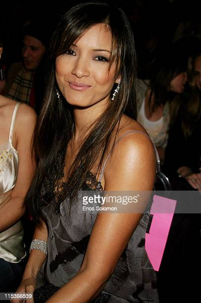 Kelly Hu during Cadillac Presents Rock & Republic Fall 2005 Fashion Show - Backstage and Front Row at Sony Studios in Culver City, California, United...