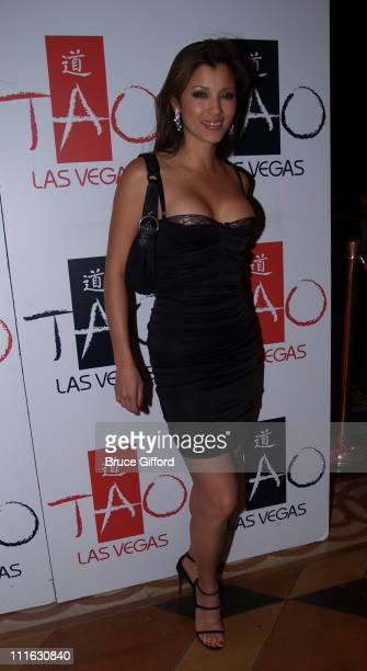 Kelly Hu during Celebrity Birthday Celebration of David Gallagher and Kelly Hu February 11 2006 at Tao Nightclub Las Vegas in Las Vegas Nevada United...