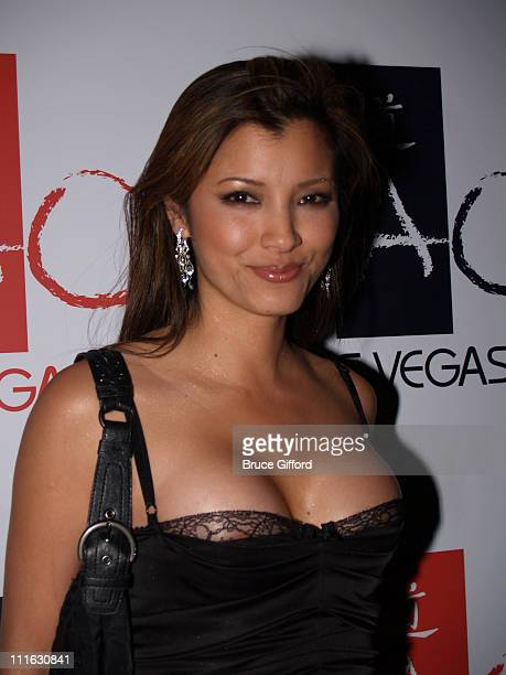 Kelly Hu during Celebrity Birthday Celebration of David Gallagher and Kelly Hu February 11 2006 at Tao Nightclub Las Vegas in Las Vegas Nevada United...