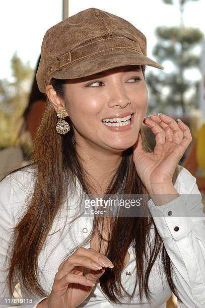 Kelly Hu during Diamond Information Center Presents Diamond Aquifer Pre-Oscar Suite - Day 4 at Soho House in Los Angeles, California, United States.