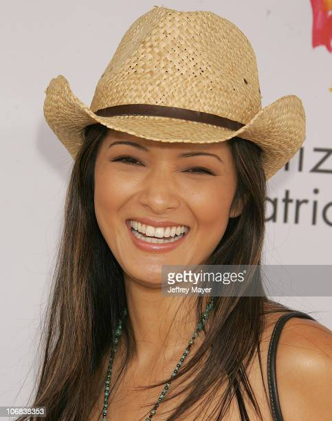 Kelly Hu during Elizabeth Glaser Pediatric AIDS Foundation 2005 A Time For Heroes Celebrity Carnival Arrivals in Los Angeles California United States