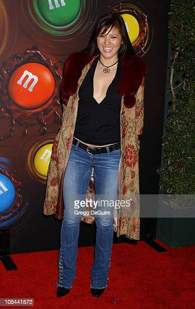 Kelly Hu during Experience The Color Of MM's Arrivals at The MM's Brand City in Hollywood California United States