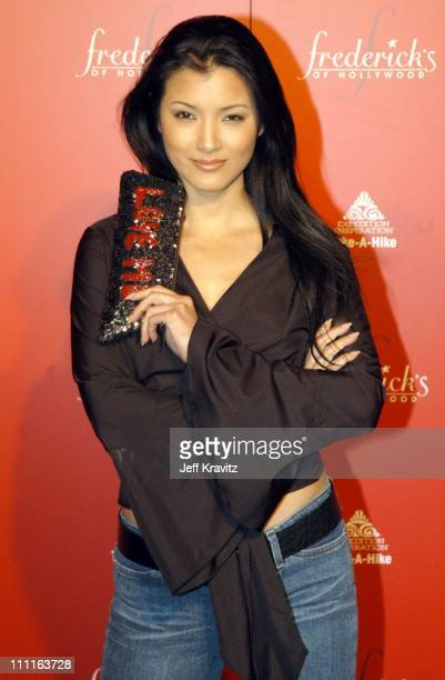 Kelly Hu during Frederick's of Hollywood Debuts Fall 2003 Collection at Smashbox Studios in Culver City CA United States