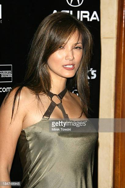 Kelly Hu during Gen Art and Acura Present The New Garde Fashion Show Arrivals at Park Plaza Hotel in Los Angeles California United States