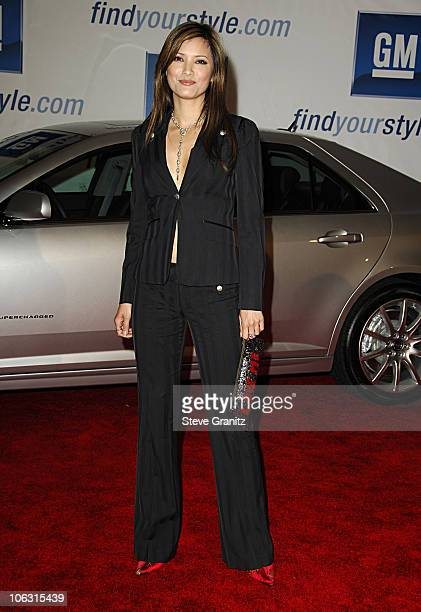 Kelly Hu during General Motors Annual ten Celebrity Fashion Show - Arrivals in Los Angeles, California, United States.