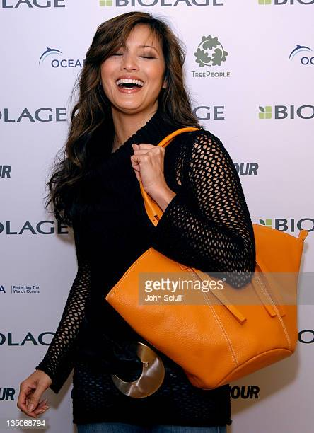 Kelly Hu during Glamour Magazine Golden Globe Suite - Day 2 at L'Ermitage in Beverly Hills, California, United States.