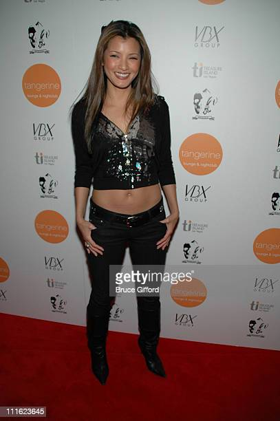 Kelly Hu during Kelly Hu Sweetens Valentine's Day at Tangerine at Treasure Island in Tangerine Lounge Nightclub in Las Vegas Nevada United States