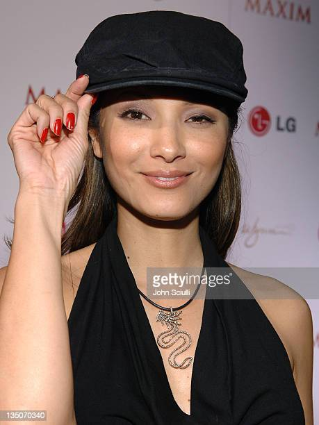 Kelly Hu during Maxim 100th Issue Weekend Poker Tournament in Las Vegas Nevada United States