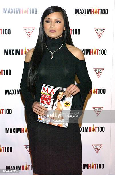 Kelly Hu during Maxim Hot 100 Party Arrivals at Yamashiro in Hollywood California United States