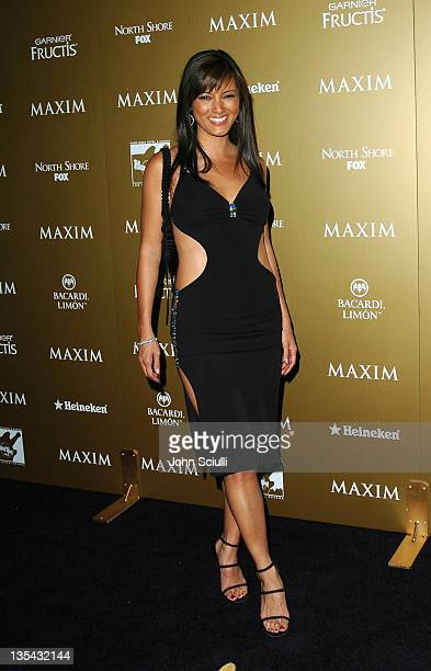 Kelly Hu during Maxim Magazine Hot 100 Party in Celebration of the Grand Opening of Body English In the Hard Rock Hotel Casino Red Carpet at Hard...