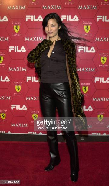 Kelly Hu during Maxim Magazine Party at Pacific Design Center in West Hollywood California United States