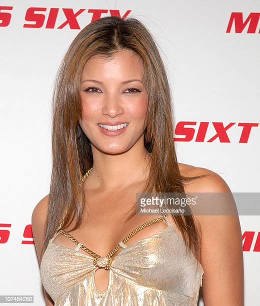 Kelly Hu during MercedesBenz Fashion Week Fall 2007 Miss Sixty Arrivals at 7 World Trade Center in New York City New York United States