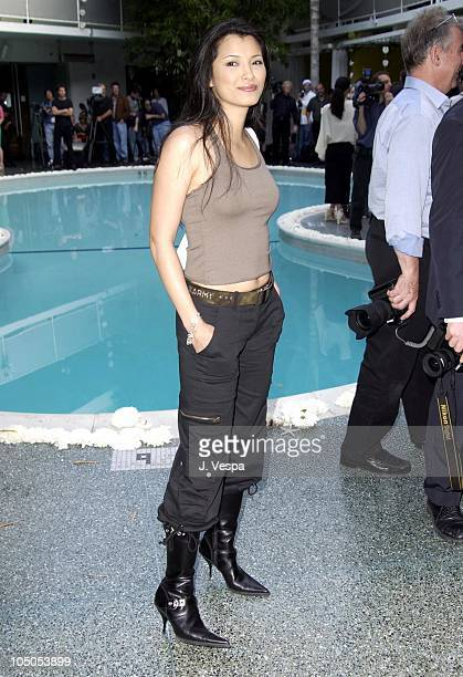 Kelly Hu during MercedesBenz Shows LA Imitation Of Christ Front Row and Backstage at Avalon Hotel in Los Angeles California United States