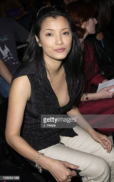 Kelly Hu during MercedesBenz Shows LA Joey and T Front Row and Backstage at The Standard Downtown LA in Los Angeles California United States