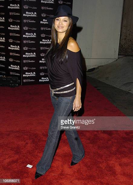 Kelly Hu during MercedesBenz Spring 2005 LA Fashion Week at Smashbox Studios Cadillac Presents Rock Republic Spring 2005 Fashion Show Arrivals at...