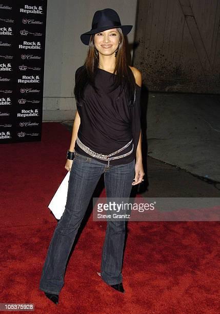 Kelly Hu during Mercedes-Benz Spring 2005 L.A. Fashion Week at Smashbox Studios - Cadillac Presents Rock & Republic Spring 2005 Fashion Show -...