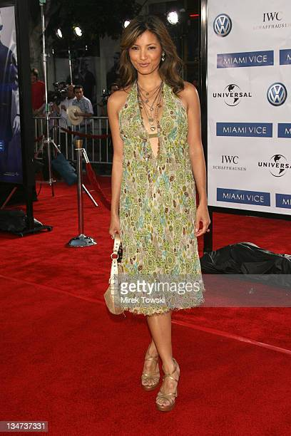 Kelly Hu during 'Miami Vice' Los Angeles World Premiere at Mann Village Theatre in Westwood California United States