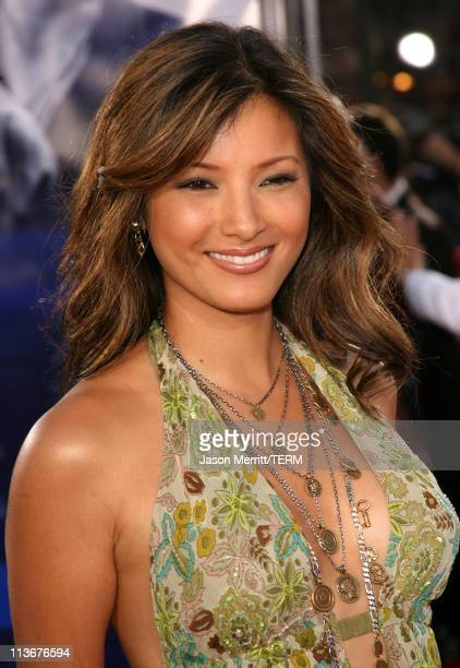 """Kelly Hu during """"Miami Vice"""" World Premiere - Arrivals at Mann Village Westwood in Westwood, California, United States."""