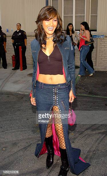 Kelly Hu during MTV Movie Awards 2004 Backstage and Audience at Sony Pictures Studios in Culver City California United States