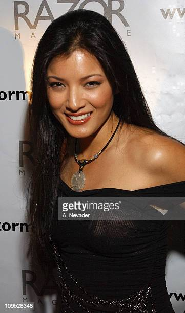 Kelly Hu during Razor Magazine Honors the Red White and Blue with a Miami Beach Blowout Party and Fashion Show at Opium Garden in Miami Beach Florida...