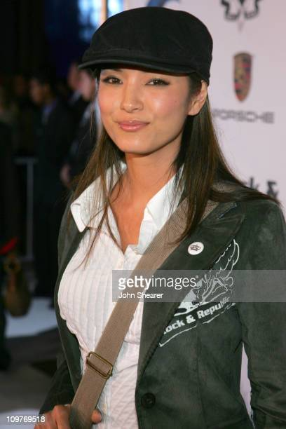 Kelly Hu during Rock Republic Love Rocks Fashion Show Spring 2006 White Carpet at Sony Pictures Studios in Culver City California United States
