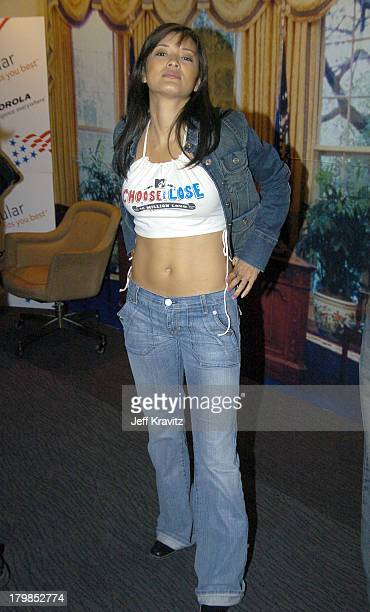 Kelly Hu during Rock The Vote 2004 National Bus Tour Concert June 16 2004 at Avalon in Hollywood California United States