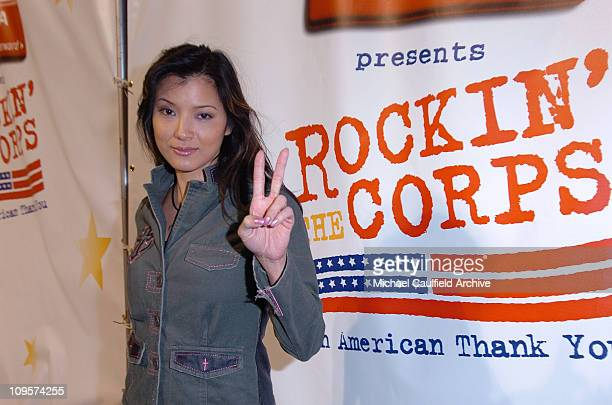 Kelly Hu during Rockin' the Corps Concert An American Thank You Celebration for US Marines Arrivals at Camp Pendelton in San Diego California United...