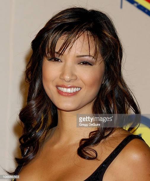 Kelly Hu during Spike TV Video Game Awards 2004 - Arrivals at Barker Hangar in Santa Monica, California, United States.