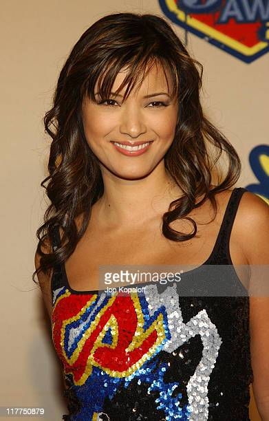 """Kelly Hu during Spike TV's 2nd Annual """"Video Game Awards 2004"""" - Arrivals at Barker Hangar in Santa Monica, California, United States."""